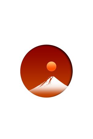 bandera japon: Mt.Fuji and japanese flag Foto de archivo