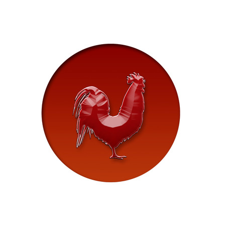 bandera japon: bandera japonesa y un pollo