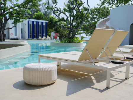 daybed: outdoor daybed at poolside