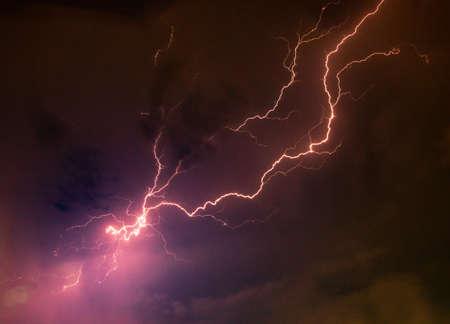 Lightning in the Red sky