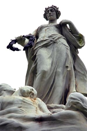 titanic: Titanic victims memorial statue in Belfast Stock Photo