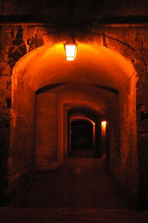 scary secret underpass in the ancient city photo