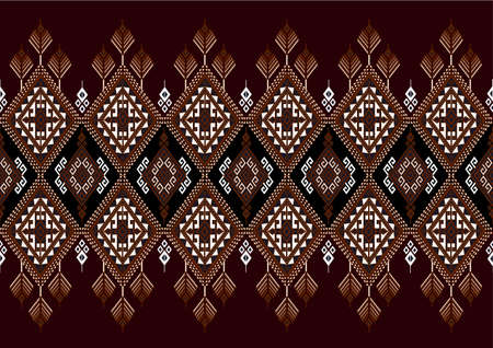 ethnic design: geometric ethnic pattern design for background or wallpaper.