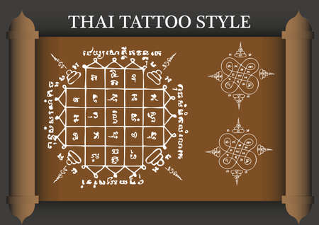 古代タイのタトゥー スタイル。