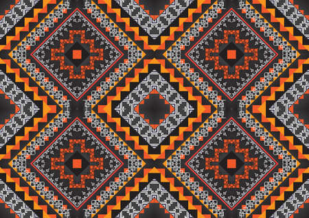 craft on marble: Geometric ethnic pattern seamless design for background or wallpaper. Illustration