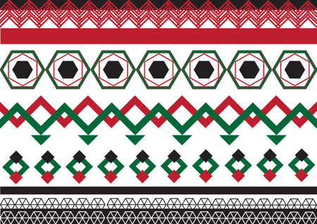 decorative pattern: Geometric ethnic pattern seamless design for background or wallpaper. Illustration