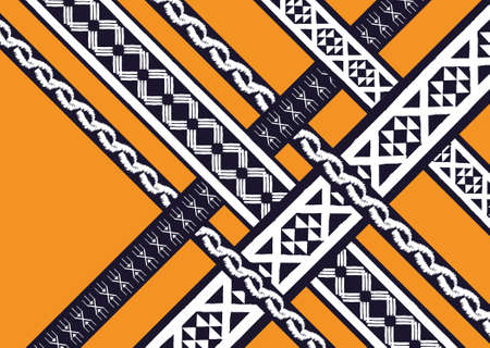 craft on marble: Ethnic Geometric pattern. design for background and wallpaper, clothing pattern, and wrapping.