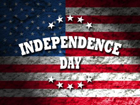 independencia: día de la independencia de fondo de la bandera de américa del grunge Foto de archivo