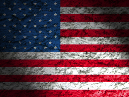 usa american flag abstract grunge background Imagens