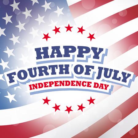 幸せな 7 月 4 日の独立記念日アメリカ カード アメリカ国旗背景