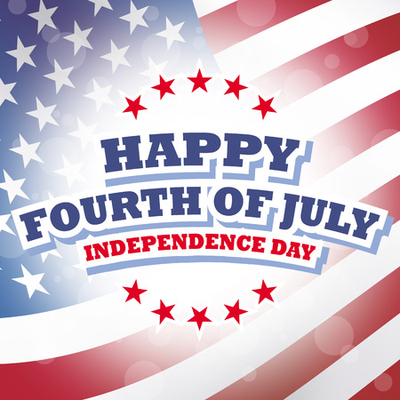 fourth of july: happy fourth of july  independence day america card american flag background Stock Photo