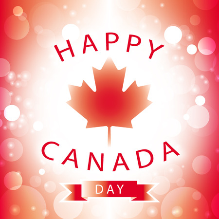 canada day: happy canada day card vector abstract flag background Illustration