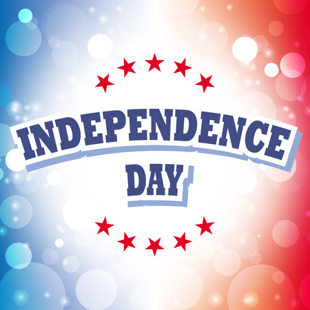 independence day usa card vector abstract background Vector