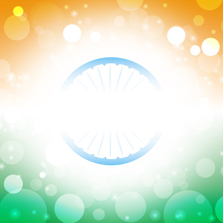 holiday celebrations: india independence day vector abstract flag background Illustration