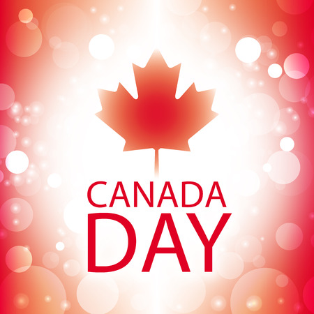 canada day: canada day card vector abstract flag background