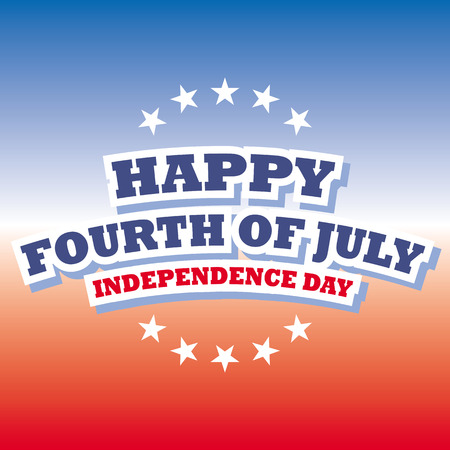 happy fourth of july  independence day usa card vector red and blue background