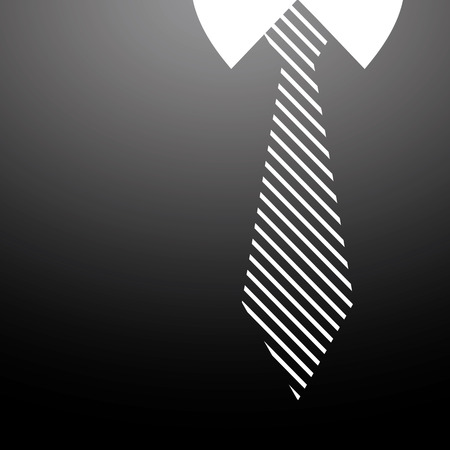 fathers day background vector tie and black shirt Illustration
