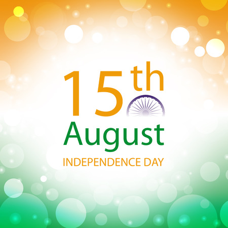 independence day: india independence day card vector abstract flag background Illustration