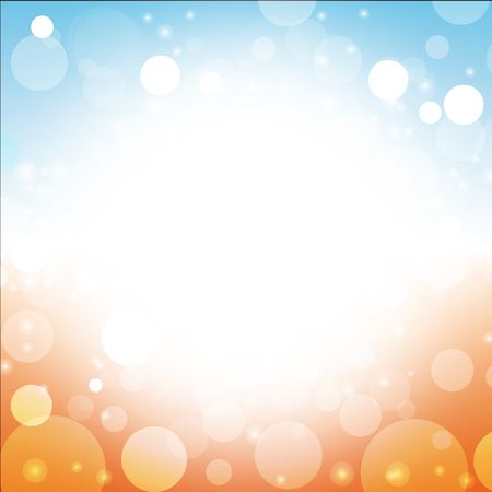 flare: summer background vector blur of sun sea blue sky beach lens flare