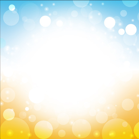 skies: abstract summer background vector of sea sun beach sky with lens flare