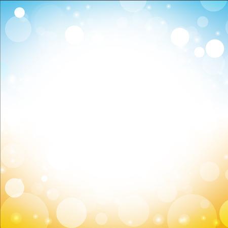 summer sky: abstract summer background vector of sea sun beach sky with lens flare