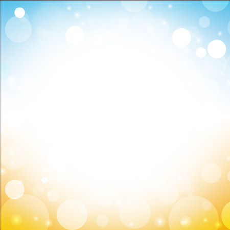abstract summer background vector of sea sun beach sky with lens flare