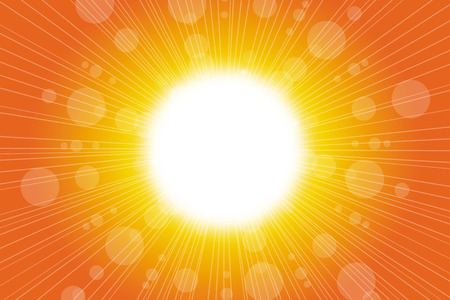 orange abstract: Summer background with abstract orange warm sun and lens flare