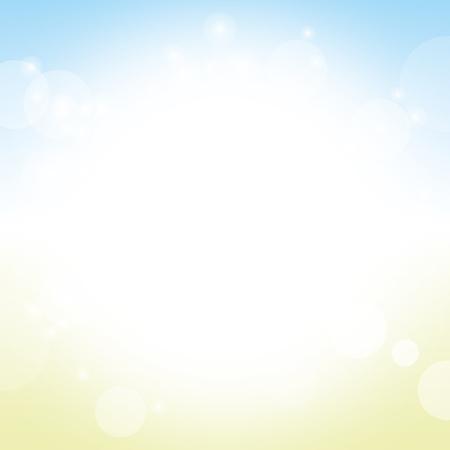 sun beach: abstract background vector of summer sky sun beach with lens flare