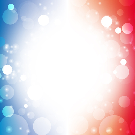 independence day america: abstract background color of american flag lens flare vector illustration