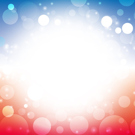 independence: abstract background color of american flag lens flare vector illustration
