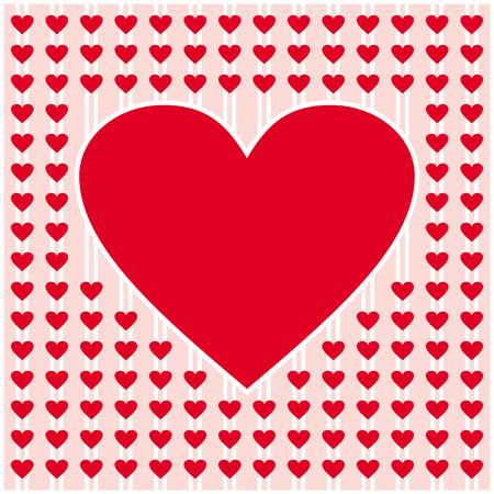 frame border: red heart border frame vector design for valentines day, love card and wedding Illustration