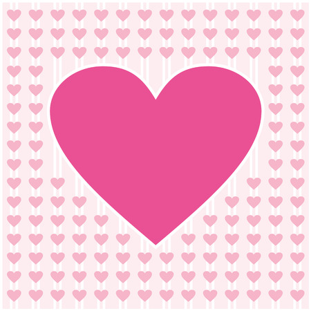 pink heart border frame vector design for valentines day, love card and wedding