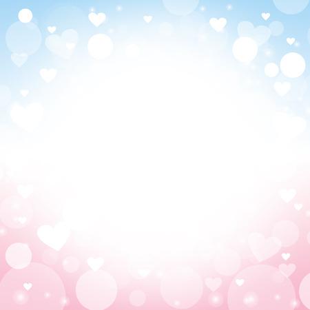 hartvorm vector abstracte roze en blauwe achtergrond - ontwerpideeën voor Valentijnsdag, liefdeskaarten, liefdesbrief, liefdesbrief en huwelijk