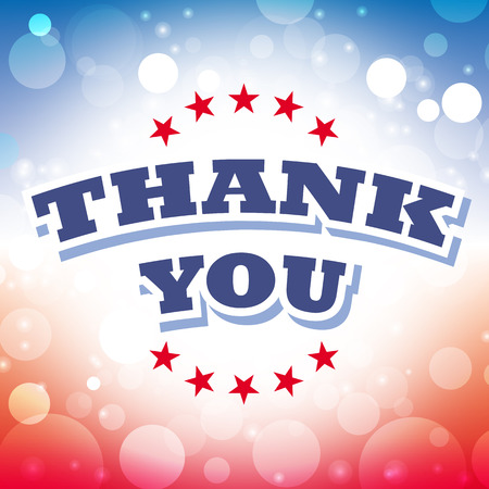 thank you card: thank you card vector on celebration background