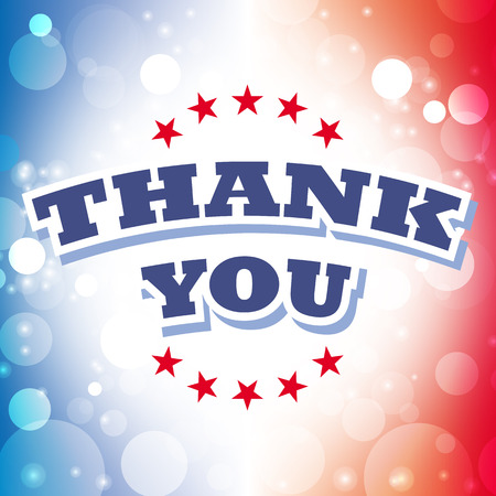 veterans day: thank you card vector