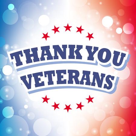 thank you veterans card vector