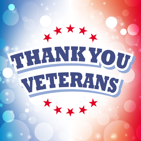 veterans: thank you veterans card vector