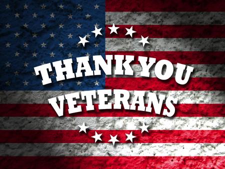 dia: gracias tarjeta de veteranos de la bandera americana de fondo del grunge