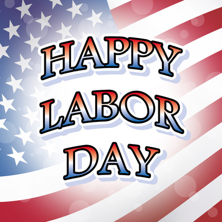usa gelukkige dag van de arbeid vlag patriottische achtergrond