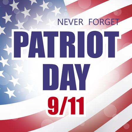 september 11: usa patriot day september 11 banner flag background Stock Photo