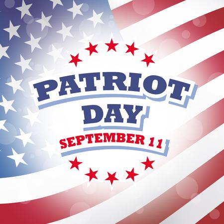 usa patriot day - september 11 - banner illustration