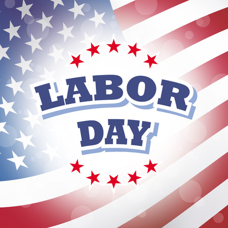 labor: usa labor day flag patriotic background Stock Photo