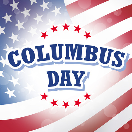 christopher columbus: columbus day american flag background