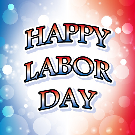 happy labor day banner vector design