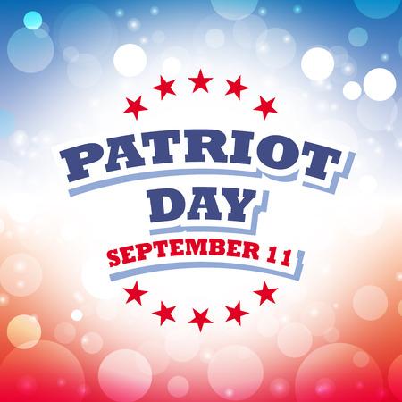september 11: usa patriot day september 11 card vector