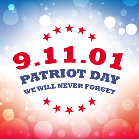 patriot: usa september 11 patriot day card vector
