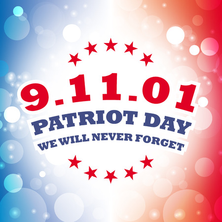 america september 11 patriot day card vector