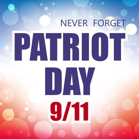 usa patriot day september 11 banner vector