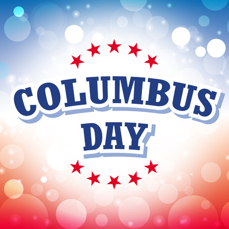 columbus day card vector on celebration background