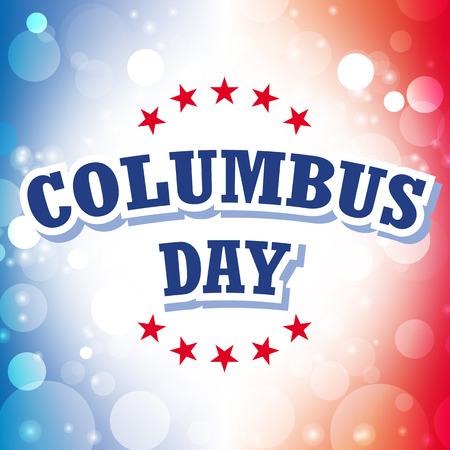 columbus day card vector